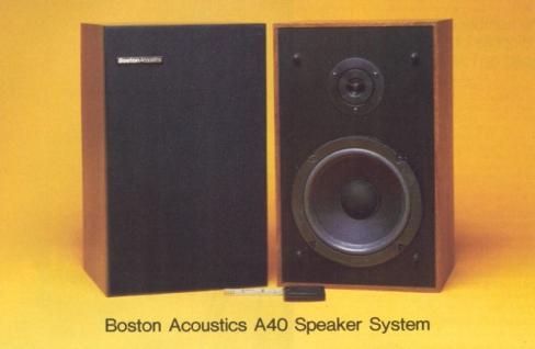 Boston Acoustics A40 Speaker System Review Price Specs