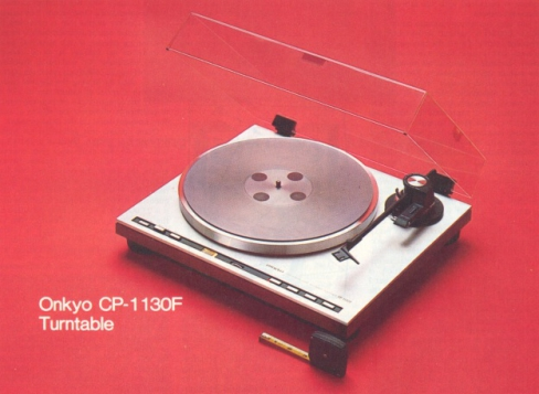 onkyo turntable. onkyo cp-1130f turntable